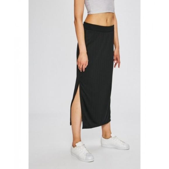 61b1641f6bc3a Adidas Originals EQT Black Stripe Maxi Long Skirt NWT